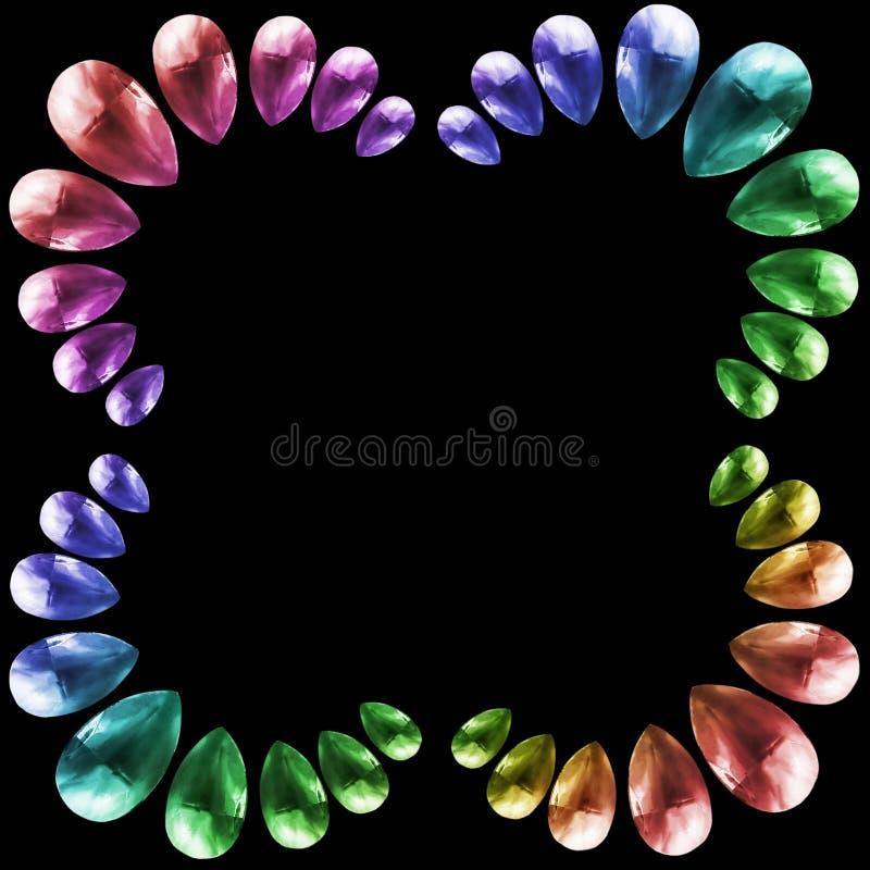 Kleurrijke geïsoleerde kristallen royalty-vrije stock afbeeldingen