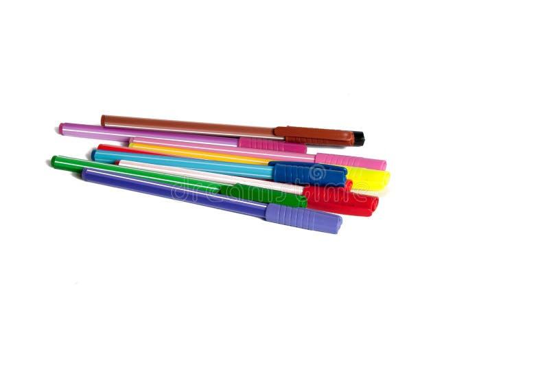 Kleurrijke geïsoleerde pennen of tellers royalty-vrije stock fotografie