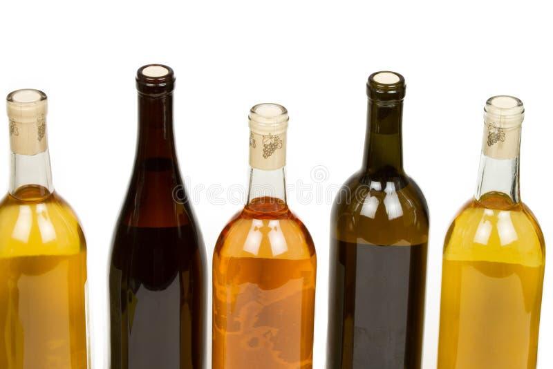 Kleurrijke Geassorteerde Flessen Wijn stock foto