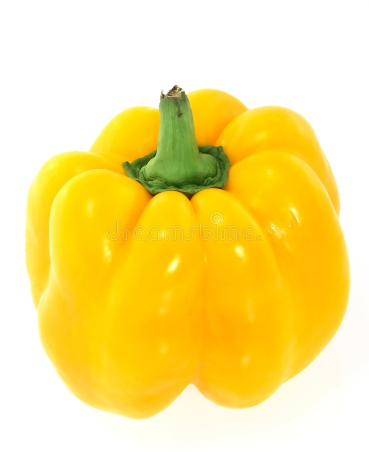 Kleurrijke gele paprika stock foto's