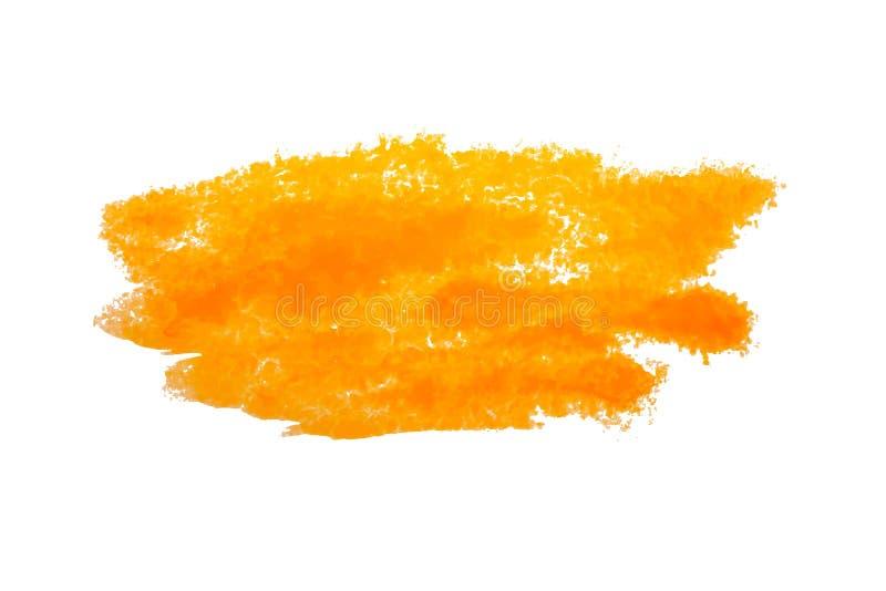 Kleurrijke gele waterverfvlek met aquarelle verfvlek stock illustratie