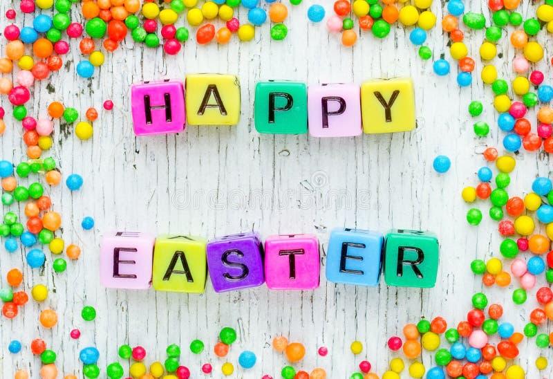 Kleurrijke Gelukkige Pasen-achtergrond royalty-vrije stock foto's