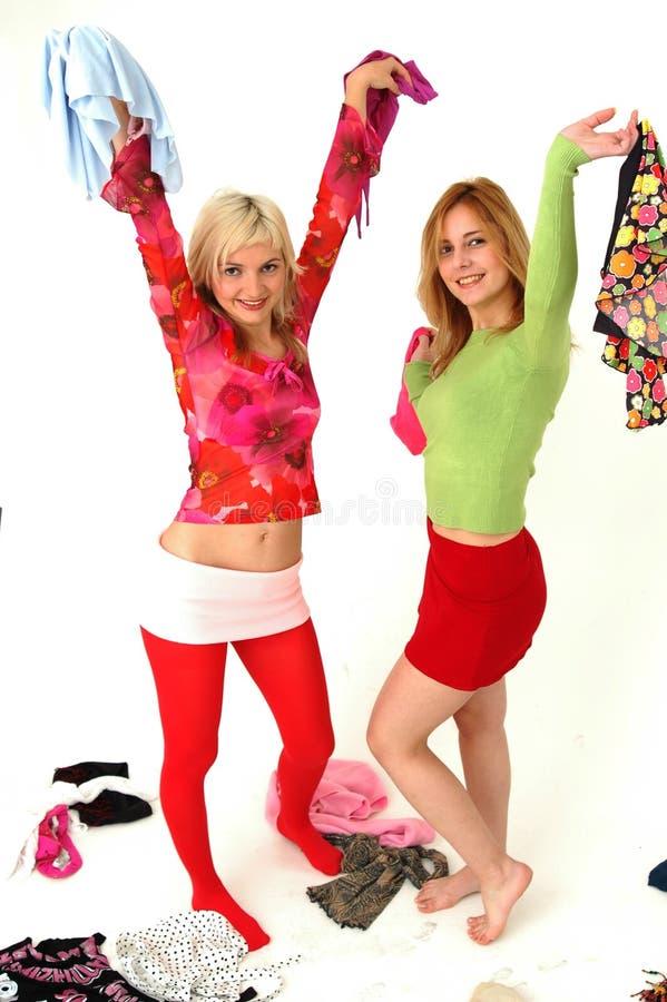 Kleurrijke gelukkige tieners 12 stock fotografie