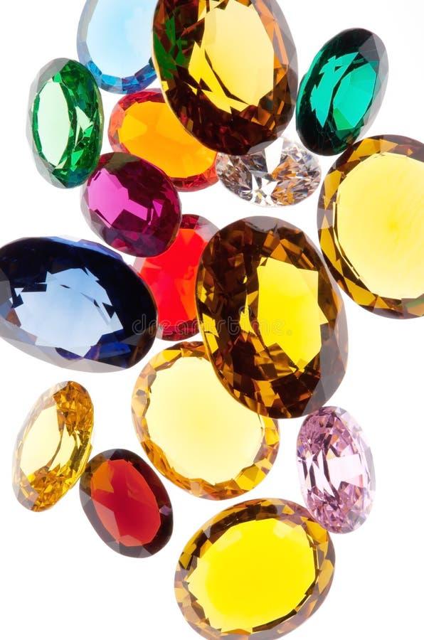 Kleurrijke gemmen stock afbeelding