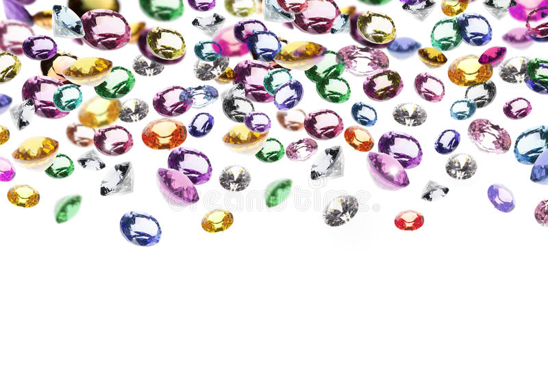 Kleurrijke gemmen stock foto
