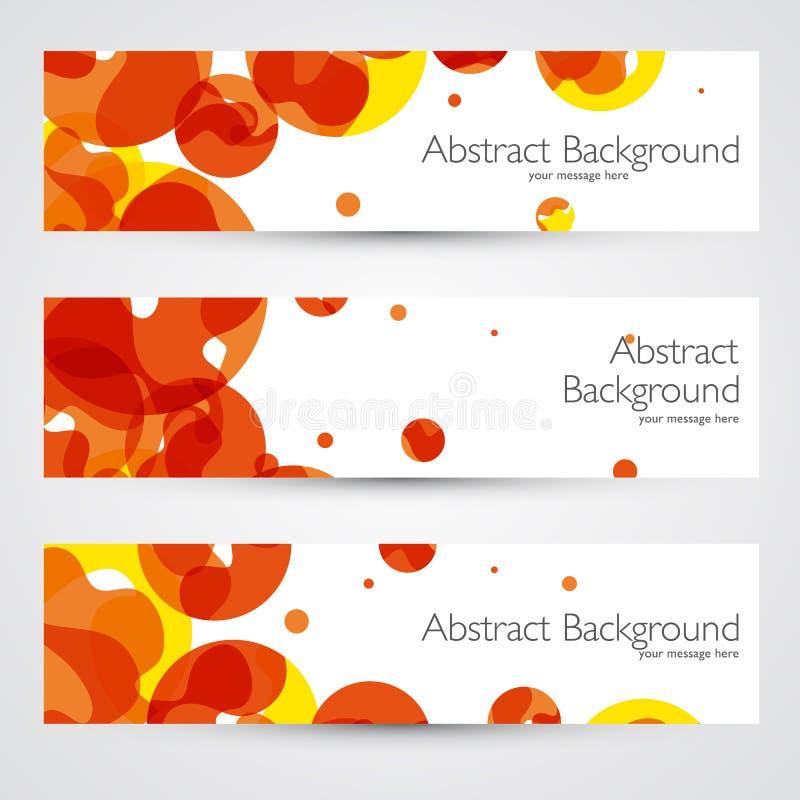 Kleurrijke geometrische abstracte vectorbanners vector illustratie