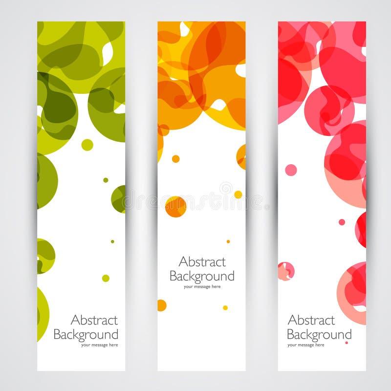 Kleurrijke geometrische abstracte vectorbanners stock illustratie