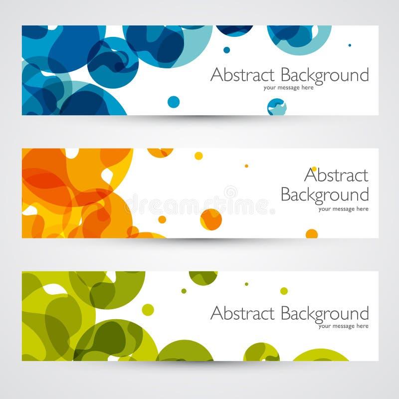 Kleurrijke geometrische abstracte vectorbanners royalty-vrije illustratie