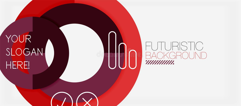 Kleurrijke geometrische cirkel moderne abstracte achtergrond stock illustratie