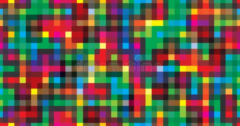 Kleurrijke geometrische naadloze herhaalde vector grafisch als achtergrond royalty-vrije illustratie