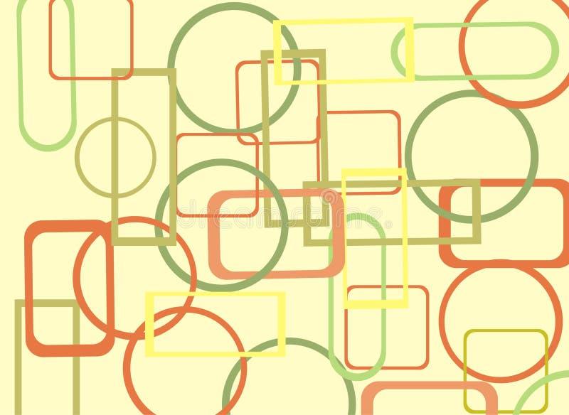 Kleurrijke geometrische samenvatting  stock afbeelding