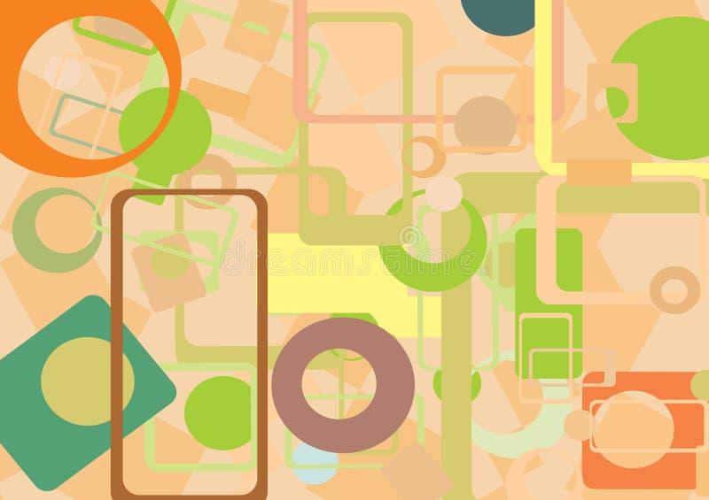 Kleurrijke geometrische samenvatting  stock illustratie