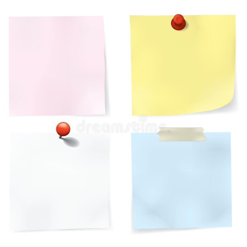 Kleurrijke Geplaatste Nota's vector illustratie