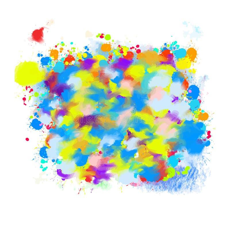 Kleurrijke geschilderde achtergronddalingswolk vector illustratie