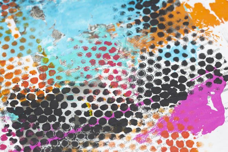 Kleurrijke Geschilderde Grunge-Achtergrond vector illustratie