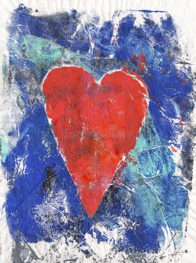 Kleurrijke geschilderde hartachtergrond vector illustratie