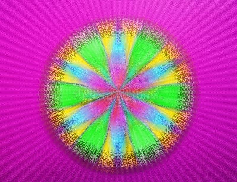 Kleurrijke geschilderde mandala vector illustratie