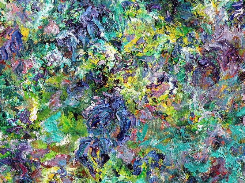 Kleurrijke geschilderde samenvatting stock afbeelding