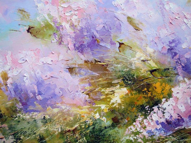 Kleurrijke geschilderde samenvatting royalty-vrije stock foto