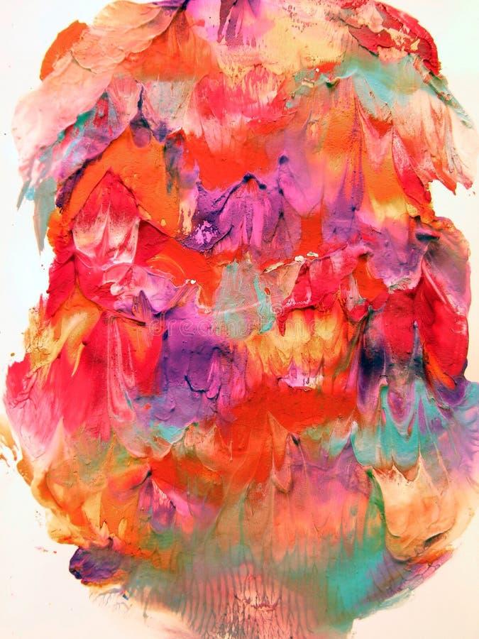 Kleurrijke geschilderde samenvatting stock foto's