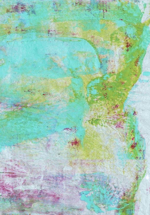 Kleurrijke geschilderde textuur als achtergrond vector illustratie