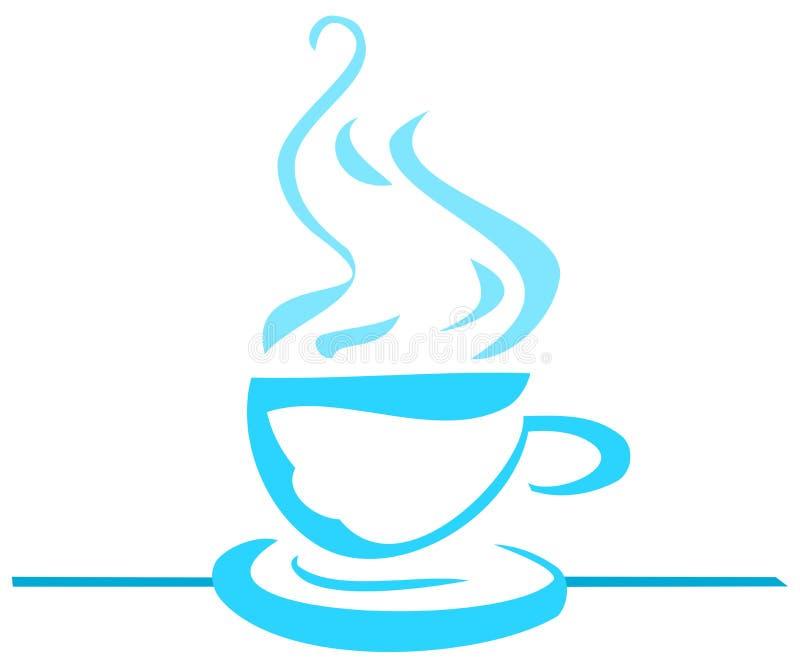 Kleurrijke gestileerde geïsoleerde Koffiekop vector illustratie