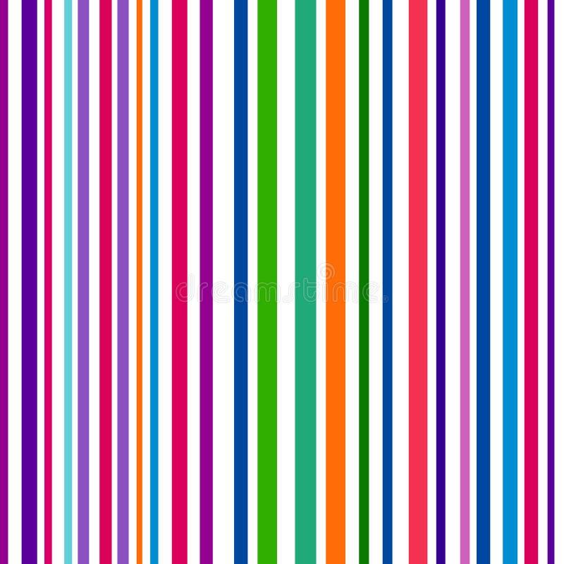 Kleurrijke gestreepte abstracte achtergrond, veranderlijke breedtestrepen stock illustratie