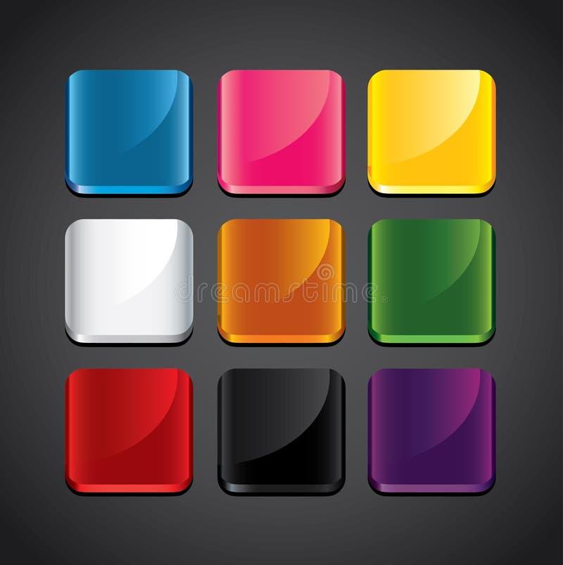Kleurrijke glanzende achtergronden voor app pictogrammen vector illustratie
