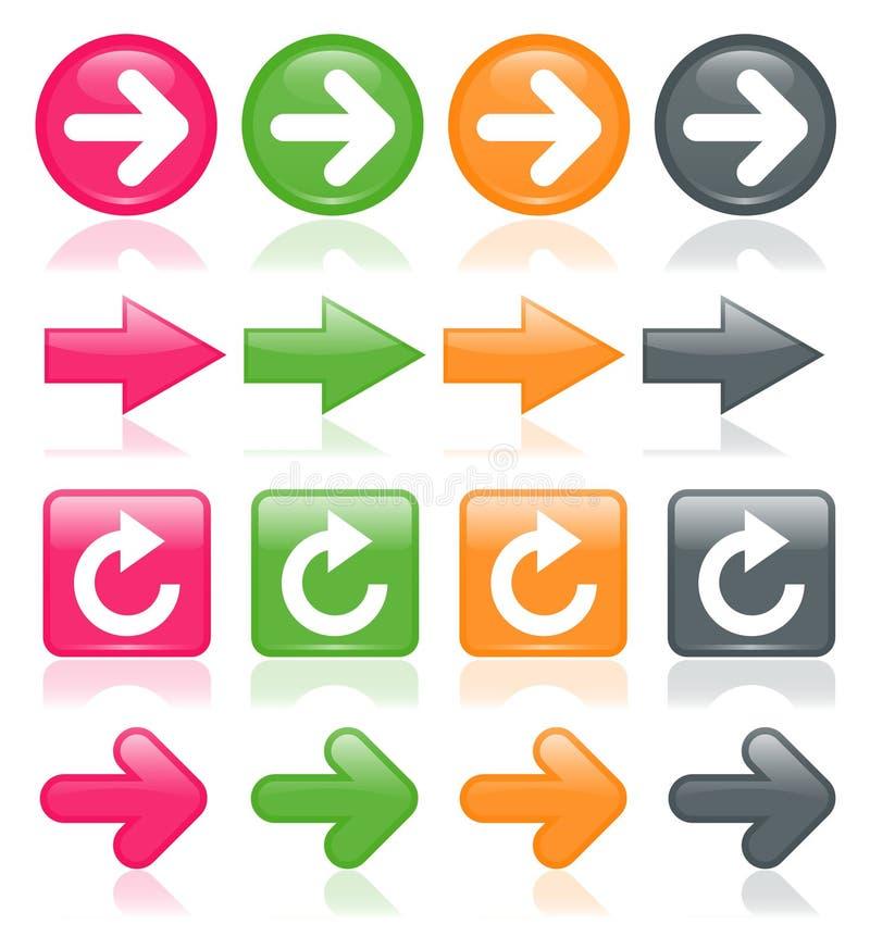 Kleurrijke Glanzende Pijlen vector illustratie