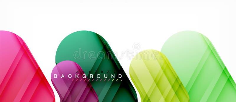 Kleurrijke glanzende pijlen abstracte achtergrond royalty-vrije illustratie
