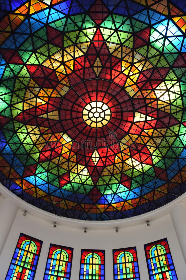 Kleurrijke Glasarchitectuur stock foto