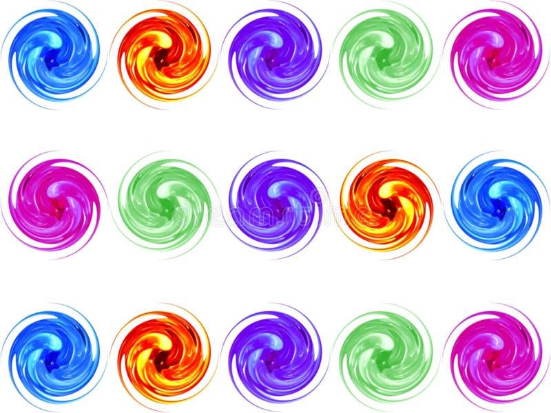 Kleurrijke glasspiraal stock illustratie