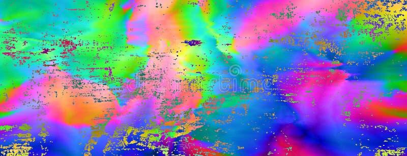 Kleurrijke glitch abstracte achtergrond vector illustratie
