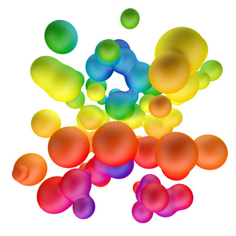Kleurrijke gradiënt metaballs abstracte achtergrond vector illustratie