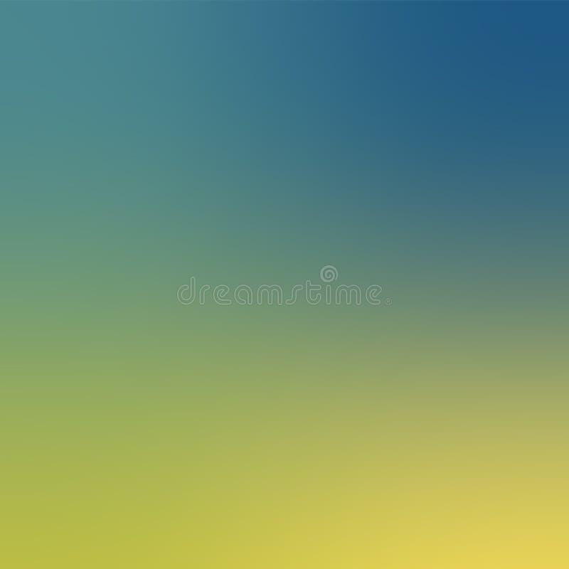Kleurrijke gradiëntachtergrond Defocused Blauwe en Gele Kleur Vage Achtergrond stock illustratie