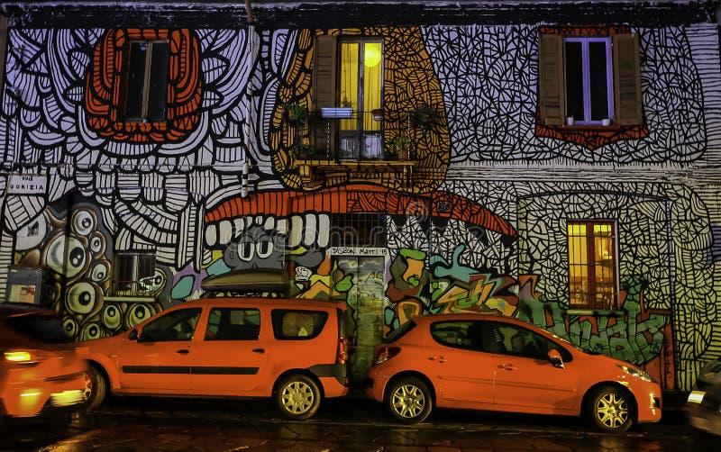 Kleurrijke graffiti in Milan Italy royalty-vrije stock foto