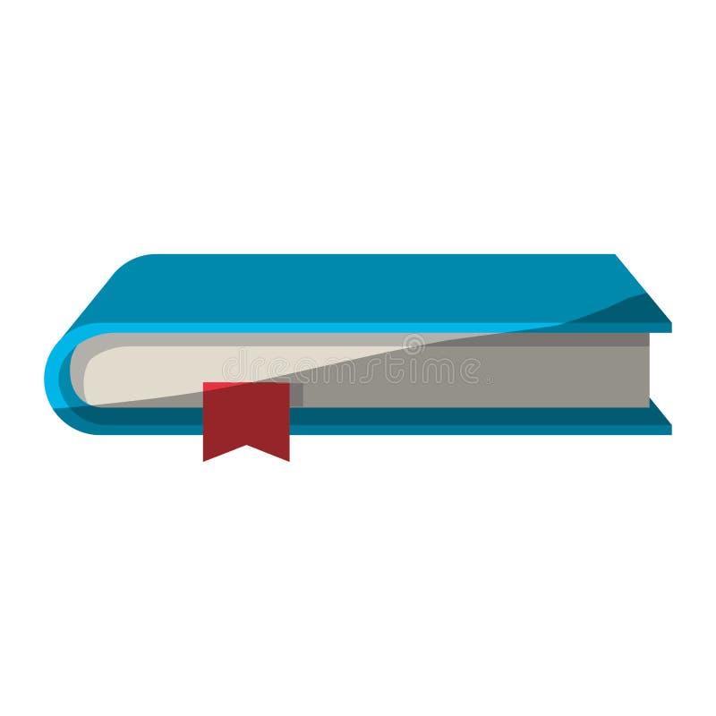 Kleurrijke grafisch van boek met referentie zonder contour en halve schaduw stock illustratie