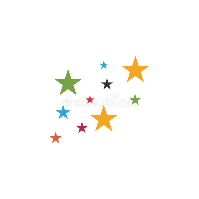 Kleurrijke grafische de ontwerpsjabloonvector van het sterrenpictogram vector illustratie