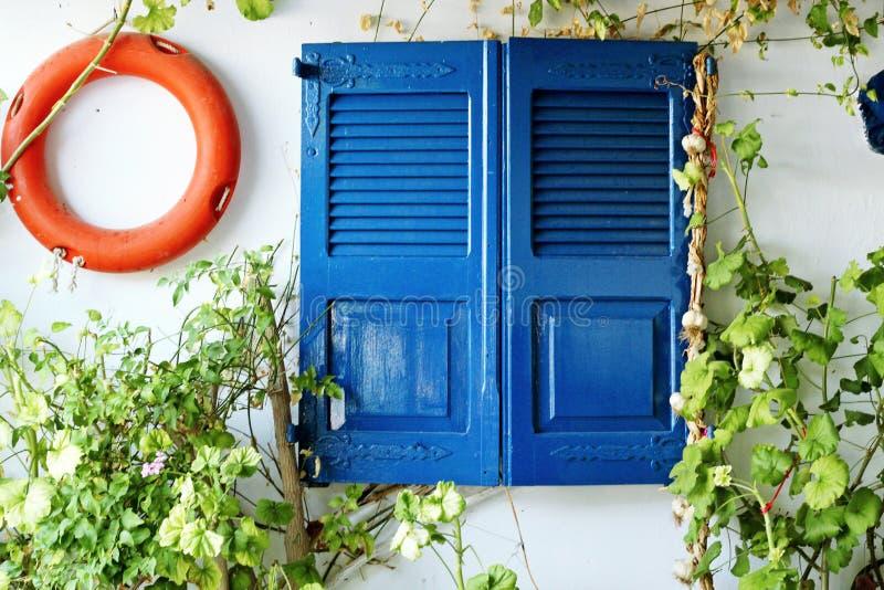 Kleurrijke Griekse straten, details royalty-vrije stock foto