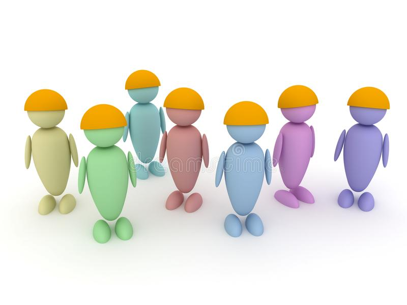 Kleurrijke groep mensen stock illustratie