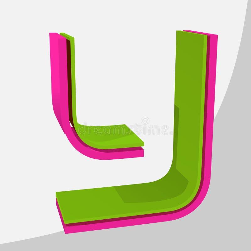 Kleurrijke grote 3D brief In vectorillustratie stock fotografie