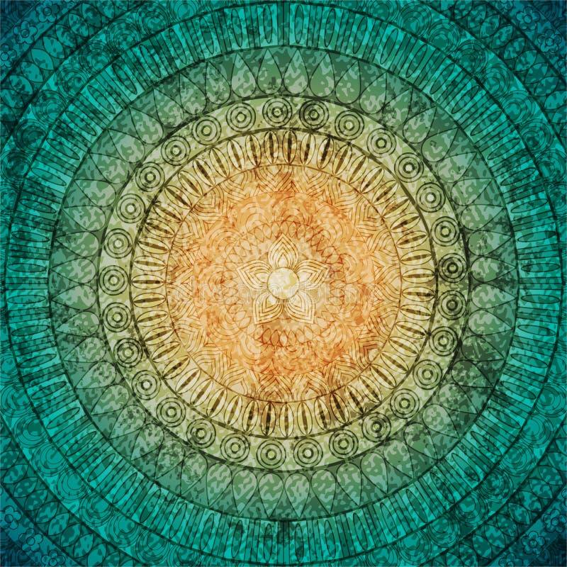 Kleurrijke grungy etnische gestileerde achtergrond vector illustratie