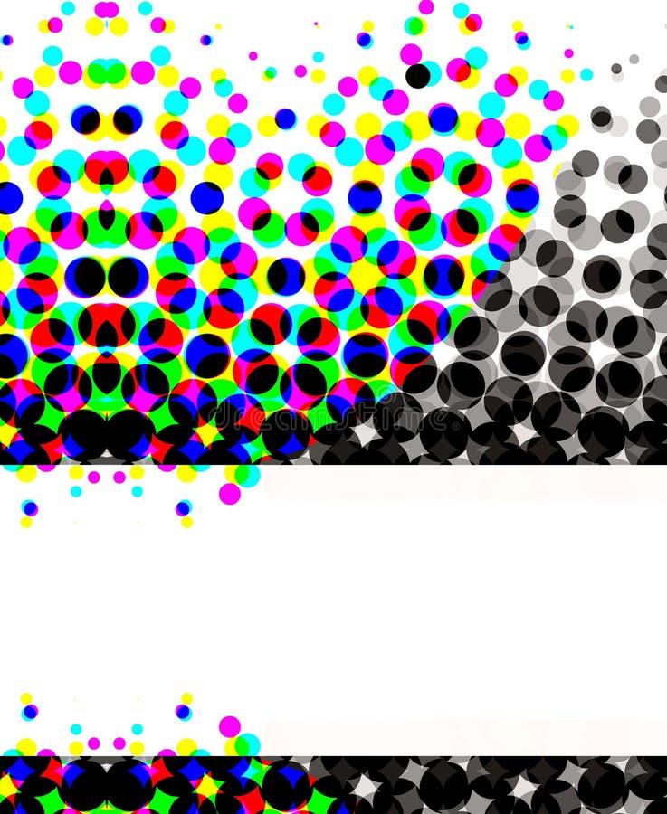 Kleurrijke Halftone Cirkels stock illustratie
