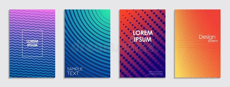 Kleurrijke halftone gradiënten Geometrische patronen vector illustratie