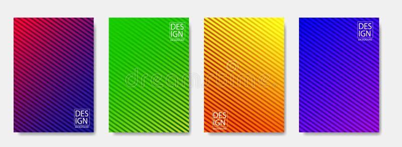Kleurrijke halftone vormendekking van pagina-indelingenontwerp Minimale moderne ontwerpdekking met gradiënten Vector dynamisch af stock illustratie