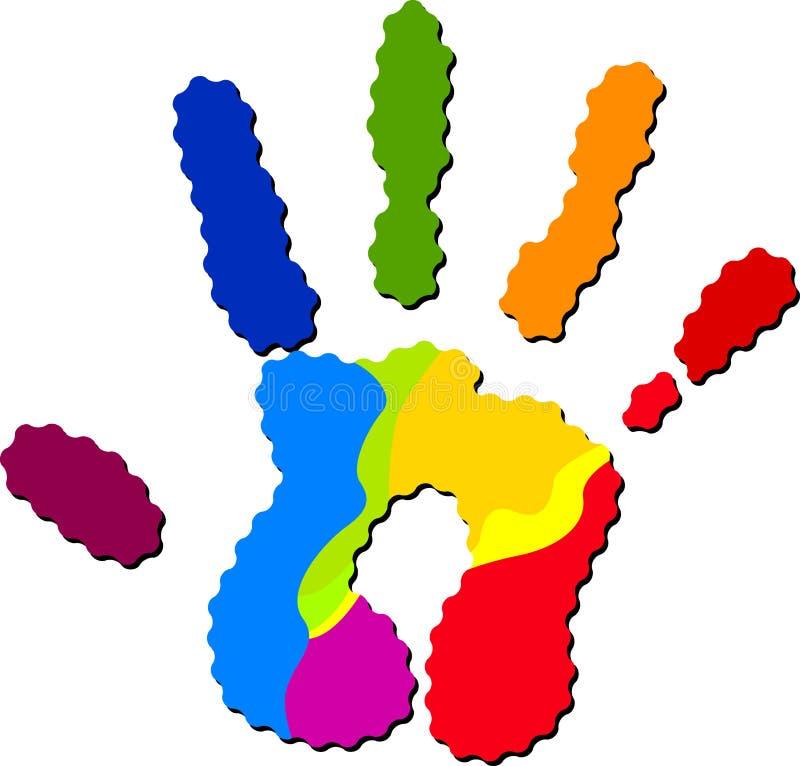 Kleurrijke hand royalty-vrije illustratie