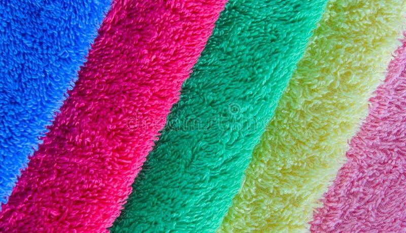 Kleurrijke handdoeken stock fotografie