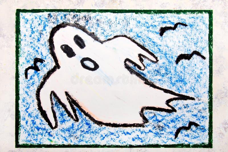 Kleurrijke handtekening: Eng Wit Spook royalty-vrije illustratie