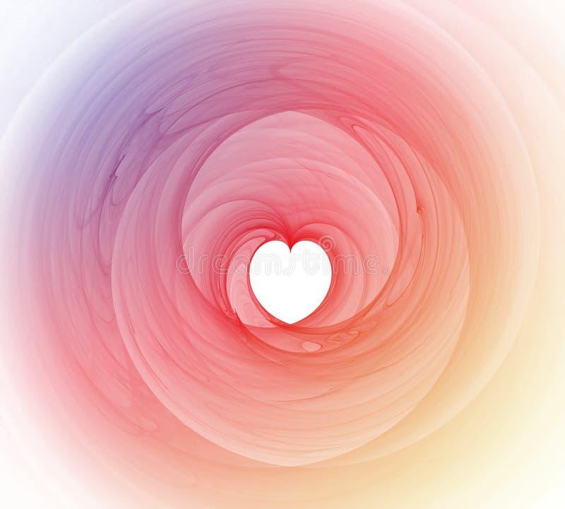 Kleurrijke hartfractal Achtergrond stock illustratie