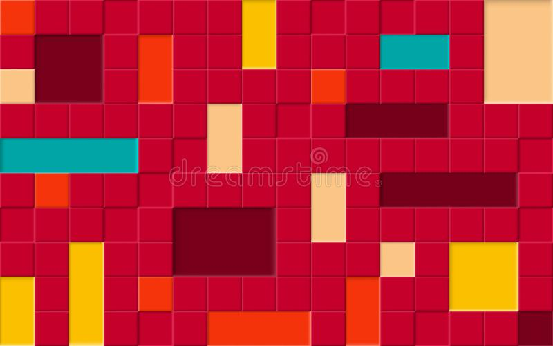 Kleurrijke heldere abstracte horizontale naadloze patroon, badkamers of vloertegels voor achtergrond vector illustratie